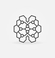 geometric digital brain linear icon ai vector image