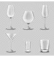 Glassware Transparent Set vector image vector image