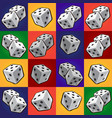 group tool set of combinations of poker dice vector image