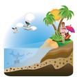 Happy Girl on Island4 vector image vector image