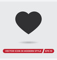 heart icon in modern style for web site and vector image vector image