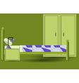 Hotel Room interior vector image vector image