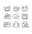 Household appliances line art icons set vector image vector image