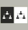 human interaction - icon vector image vector image