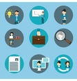 human resource management business icon set vector image vector image