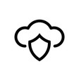 icon cloud computing security graphic design vector image