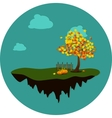 island in sky vector image vector image
