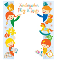 Kindergarten Preschool Kids Border and Frame vector image vector image