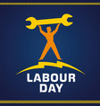 labor day workman vector image vector image