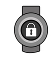 orbed watch with media icon on the screen vector image vector image