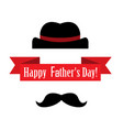 postcard on fathers day vector image
