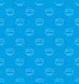 printer pattern seamless blue vector image vector image