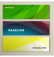 Set abstract bright green image yellow blue vector image vector image