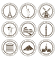 Set of Icons Travel and Sightseeing vector image