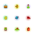 Shipment icons set pop-art style vector image vector image