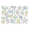 speech bubble dialogs set colored conversational vector image