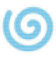 spiral halftone icon vector image