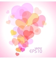 Spot of many hearts vector image vector image