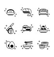sushi oriental menu icons set line style icon vector image vector image