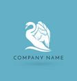 swan logo sign emblem-18 vector image