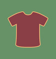 t-shirt sign cordovan icon and mellow vector image vector image