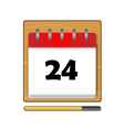 The Twenty-four days on the calendar vector image vector image