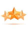Three 3d gold stars premium The best reward vector image