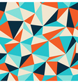 triangle seamless pattern blue orange vector image