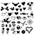 valentines symbol set vector image
