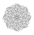 vintage feather mandala vector image vector image