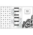 vintage menu design with roses vector image