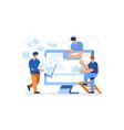 web page designer developing website layout vector image vector image