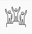 winners business people pedestal line icon vector image
