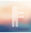 zombie icon on blurred background vector image