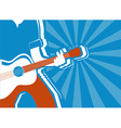 musician and guitar background vector image