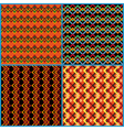 Four seamless patterns on ethnic motifs vector image