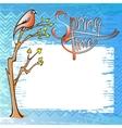 Springtime card with a bird vector image