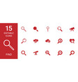 15 find icons vector image vector image