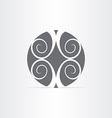 abstract floral circle icon vector image vector image