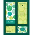 abstract green circles vertical frame vector image vector image