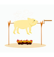 An image of a roasted pig