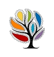 Art tree with colorful petals for your design vector image vector image