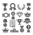 awards icons set on white background vector image vector image