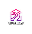 bird home template vector image