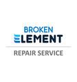 broken element - for phones laptops vector image