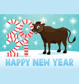 bull symbol new 2021 vector image