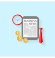 Business design in flat style vector image vector image