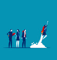 business team start up and growth concept vector image