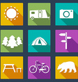 CampingIcons6 vector image vector image