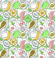 cartoon colorful fruit seamless pattern vector image